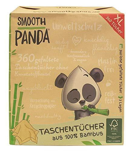 Smooth Panda handkerchiefs 100% bamboo - 360 pieces - wayne-whale