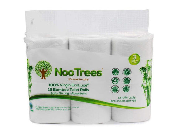 Bamboo 3-Ply Bathroom Tissue, 220 Sheets, 12 Count - wayne-whale
