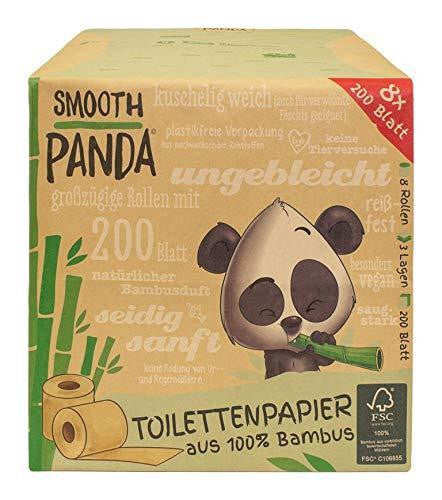 Smooth Panda Toilet Paper - 100% Bamboo, 3 layers