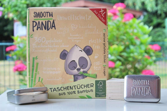Smooth Panda - Bamboo handkerchiefs 3 layers 360 pieces - wayne-whale