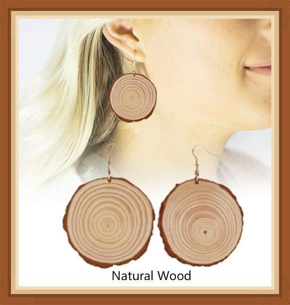 New Design Handmade Natural Wood Earrings - wayne-whale
