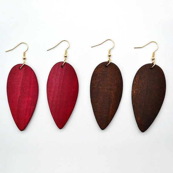 Africa Indian Wooden Earrings Handmade - wayne-whale
