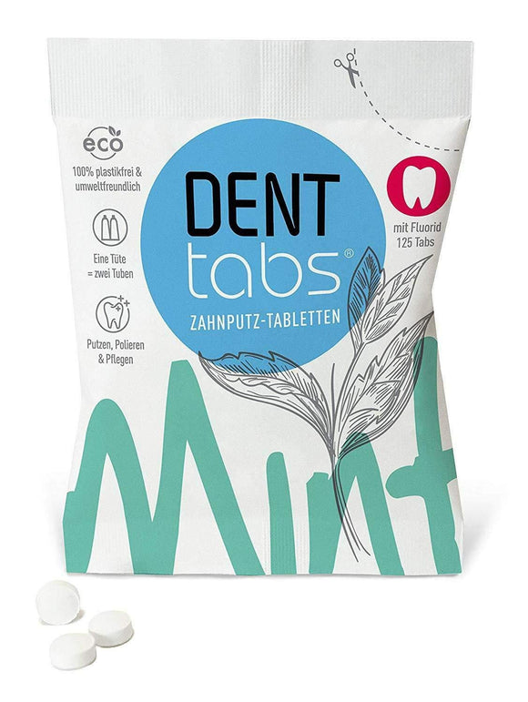 125 Denttabs with fluoride - VEGAN - plastic free - wayne-whale