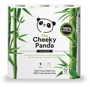 Ultra Sustainable Hypoallergenic 100% Bamboo Toilet Paper - Pack of 9 - wayne-whale