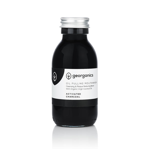 Georganics Mouthwash with Oil - Activated Carbon - wayne-whale
