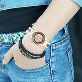Red Wood Watch Women - wayne-whale