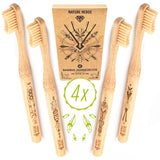 Bamboo Toothbrush Set (pack of 4) - wayne-whale