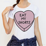 Eat My Shorts Women's Organic Cotton Crewneck Tee - wayne-whale