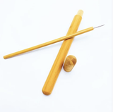 1pc Organic Bamboo Straw With Straw Cleaner - wayne-whale