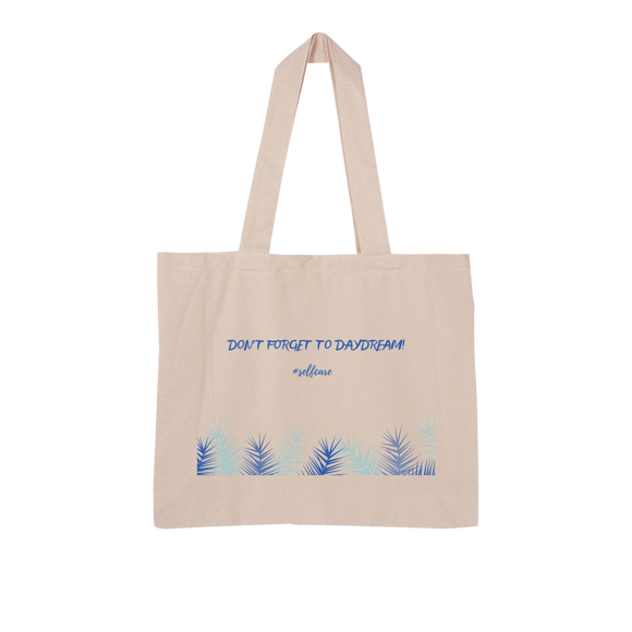 DON'T FORGET TO DAYDREAM Large Organic Tote Bag - wayne-whale