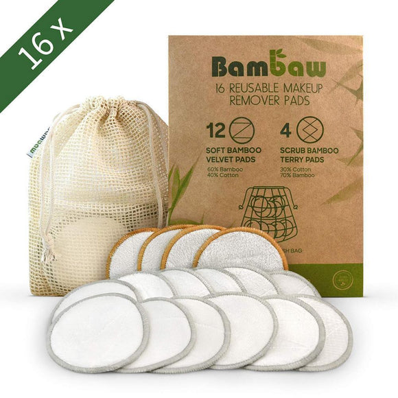 Bamboo Reusable Organic Cotton Pads - wayne-whale