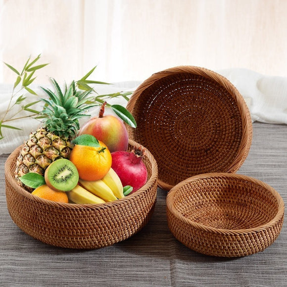 Handmade Natural Bamboo Wicker Basket Set - wayne-whale