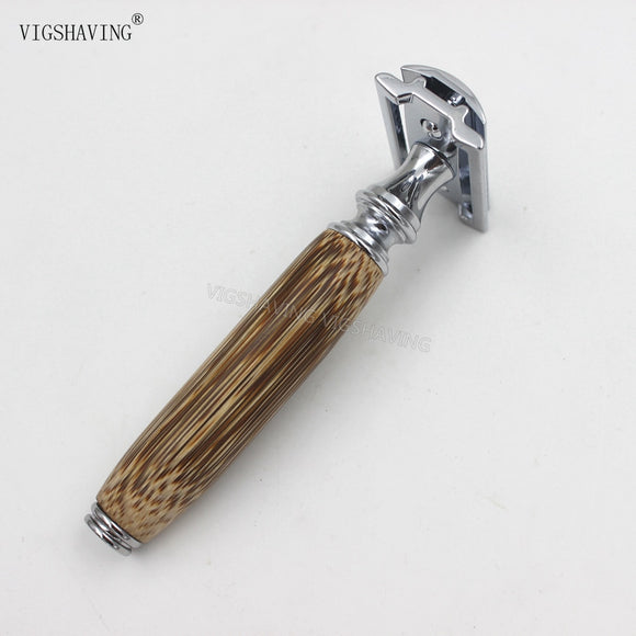 Bamboo Handle Double Edge Razor - wayne-whale