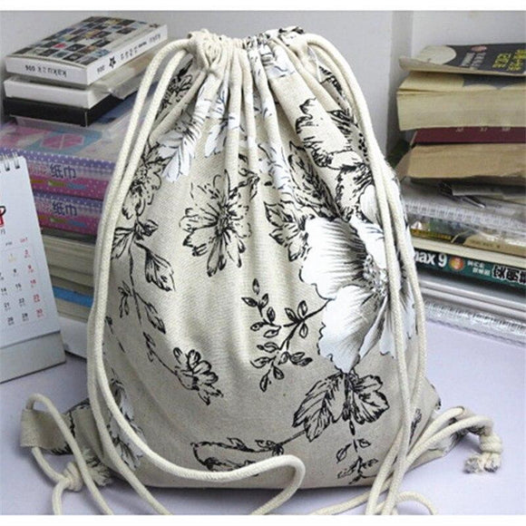 Eco Travelling Backpack - Peony Flower - wayne-whale