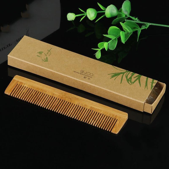 Wooden Bamboo Comb - wayne-whale