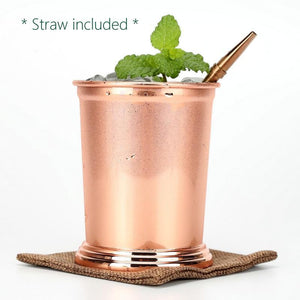 2 Pieces Set, Mugs with Straw, 12 oz / 350 ml, Stainless Steel in Copper - wayne-whale
