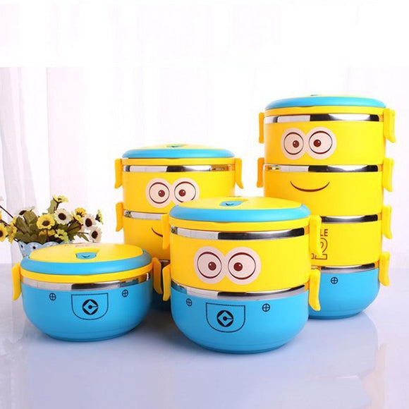 Cartoon Minion Stainless Steel Lunchbox - wayne-whale