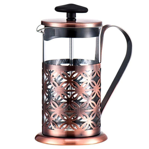 Stainless Steel Glass Vintage Manual Coffee Maker - wayne-whale