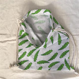 Cotton Linen Eco Drawstring Backpack - wayne-whale