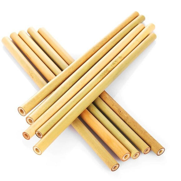 5Pcs Natural Bamboo Straws With Brush - wayne-whale