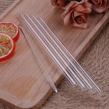 4Pcs Straight Glass Reusable Drinking Straws - wayne-whale