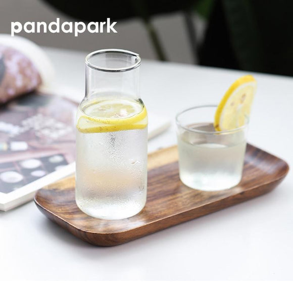 2PCS Pandapark Glass Bottle And Glasses - wayne-whale