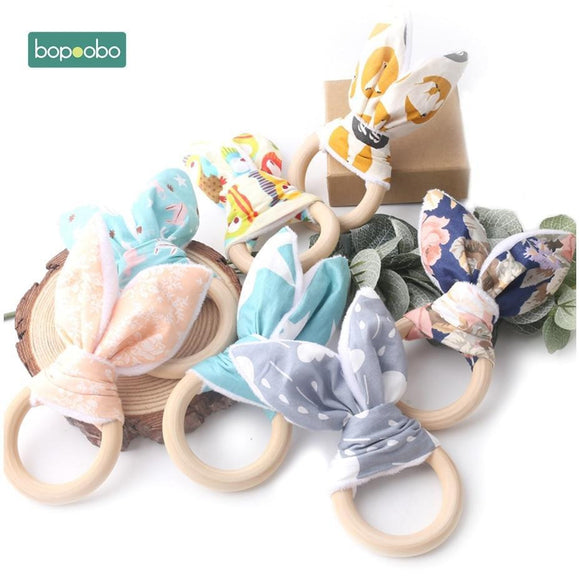 Organic Bunny Ear Bracelets for Babies, 56mm Ring - wayne-whale