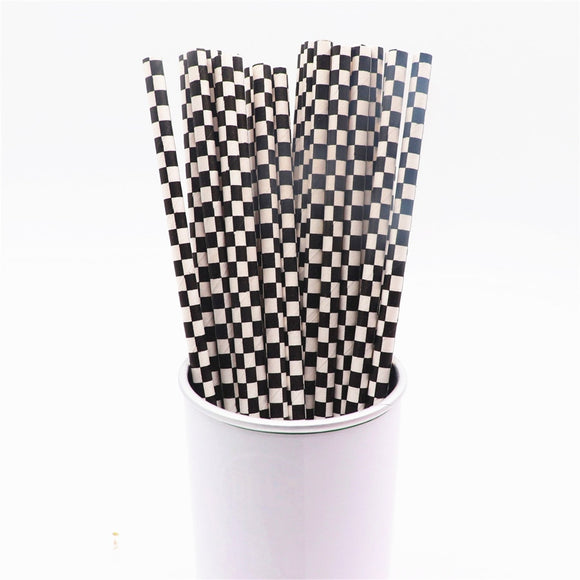 25pcs Paper Straws - various colors - wayne-whale