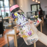 Glass Water Bottle with Tea Infuser - wayne-whale