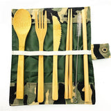 Organic Wood Travel Cutlery Set With Pouch - wayne-whale