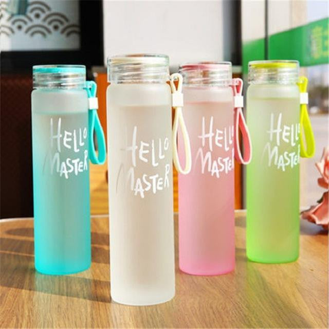 Glass Water Bottle - Leak Proof - 480ml
