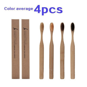 4 pcs Eco Friendly bamboo toothbrushes - wayne-whale