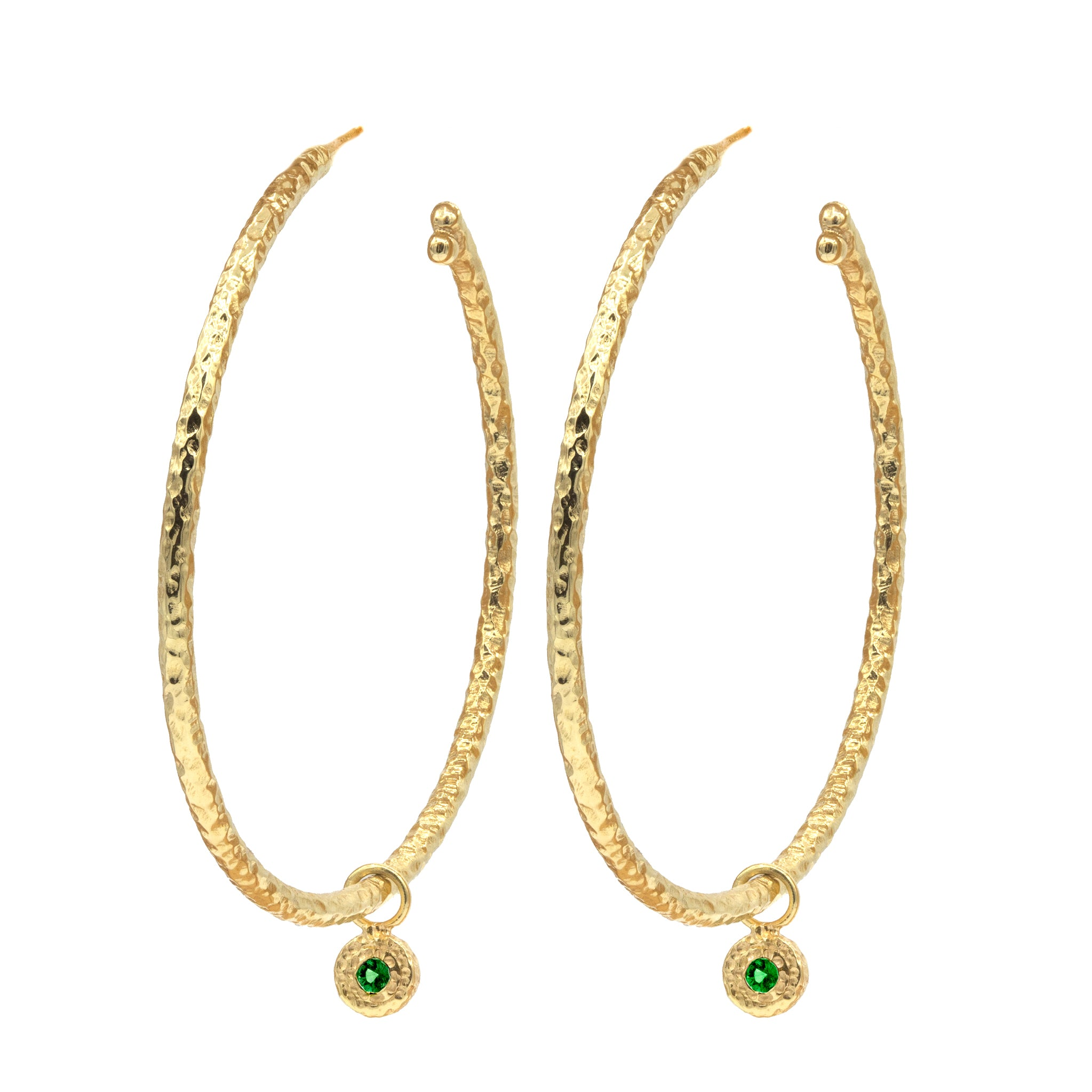 Medium Nesting Gem Hoops