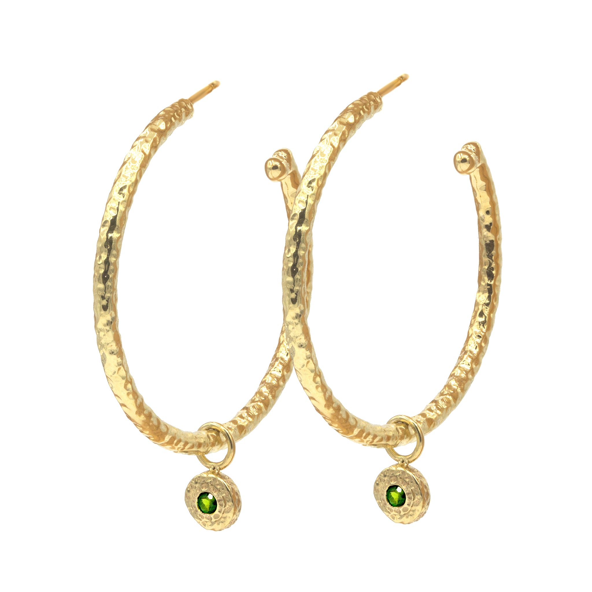 Small Nesting Gem Hoops