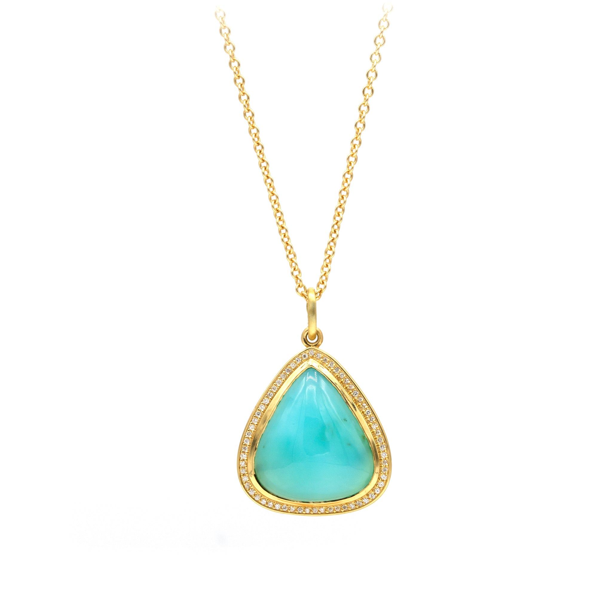 Sanded Necklace - Paraiba
