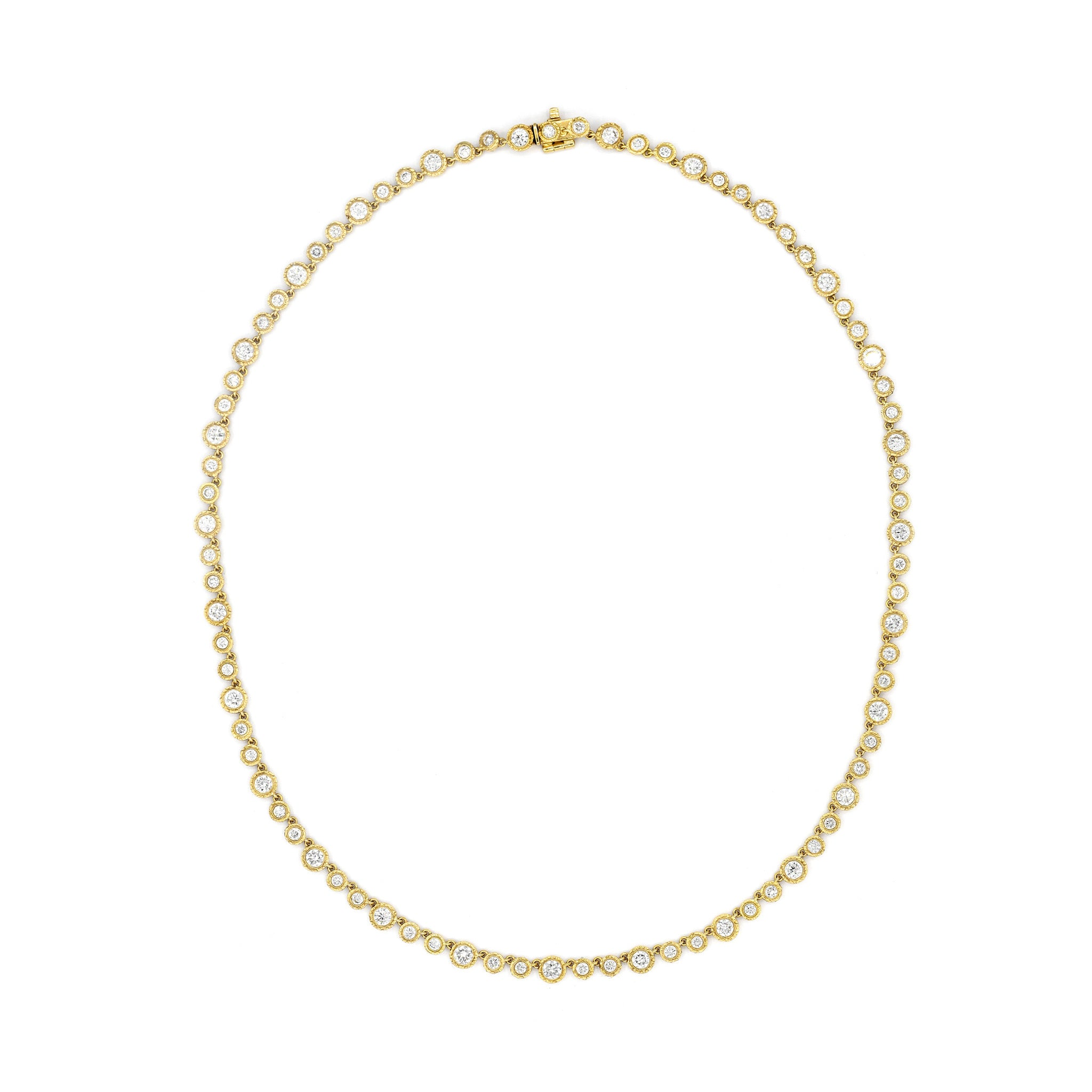 Micro Nesting Gem Tennis Necklace