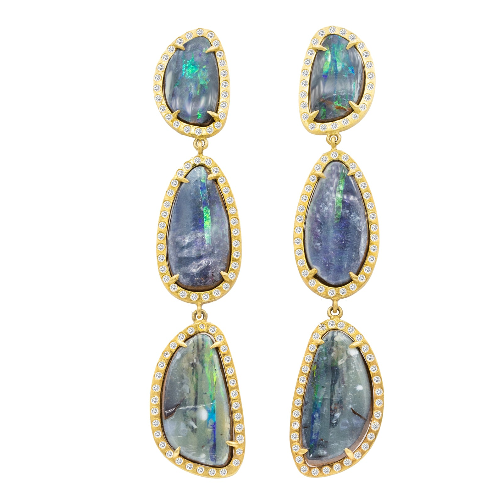 Long Opal Earth Earrings