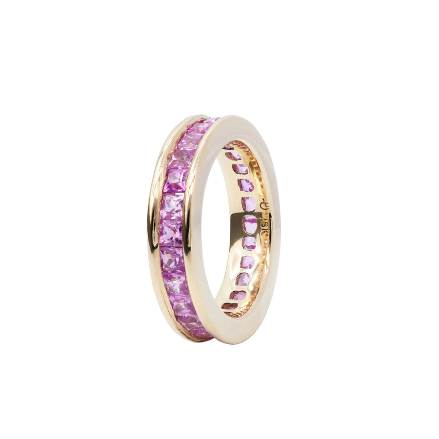 Pink Sapphire Ivy Eternity Ring
