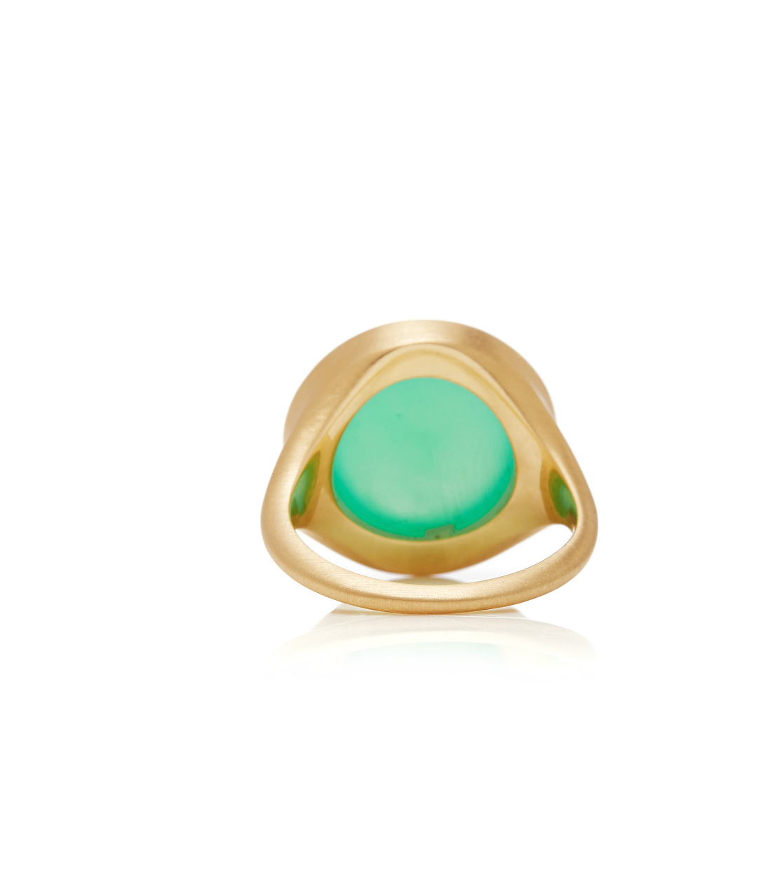 Chrysoprase & Diamond Ring - Round