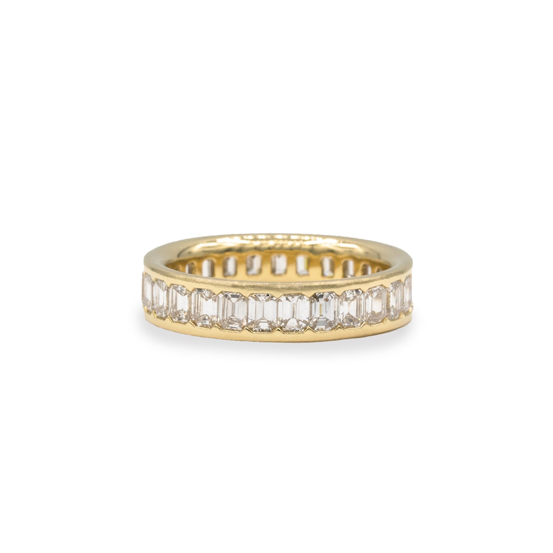 Petite Emerald Cut Diamond Eternity Band
