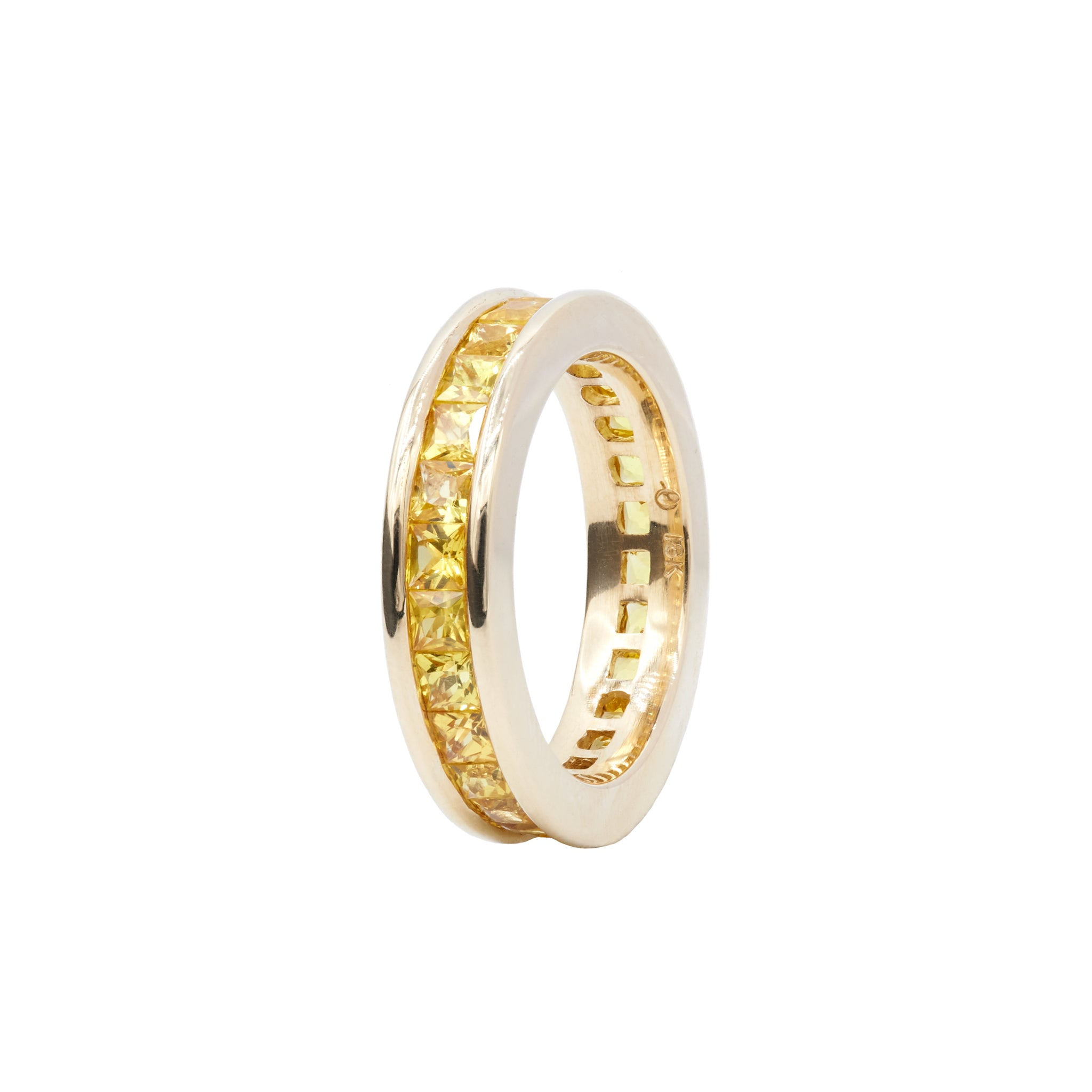 Yellow Sapphire Ivy Eternity Ring