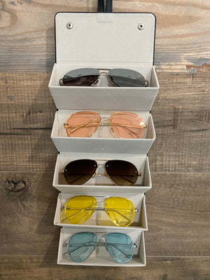 Sunglasses Travel Case- Solid Black
