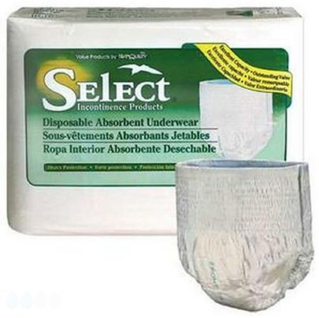 Adult Absorbent Underwear Select® Pull Up X-Small Disposable Heavy Absorbency