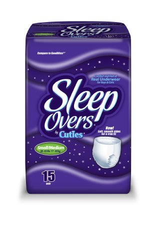 Youth Absorbent Underwear Cuties® Sleep Overs® Pull Up Disposable Heavy Absorbency