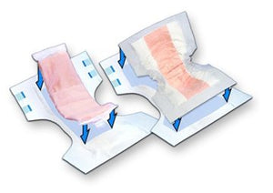 Incontinence Booster Pad TopLiner™ 32 Inch Length Heavy Absorbency Peach Mat Unisex Disposable