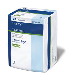 Youth Absorbent Underwear Curity™ Pull Up Disposable Heavy Absorbency