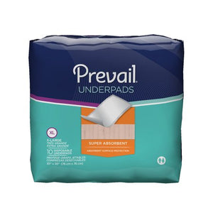Underpad Prevail® 30 X 30 Inch Disposable Fluff Light Absorbency
