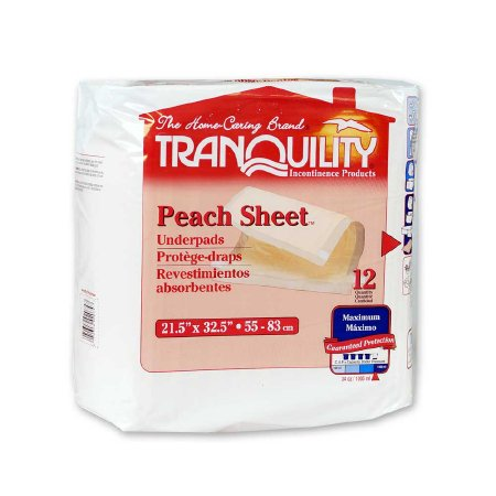 Underpad Tranquility® 21-1/2 X 32-1/2 Inch Disposable Polymer Heavy Absorbency