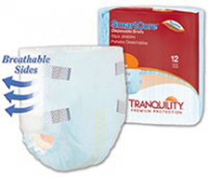 Adult Incontinent Brief Tranquility SmartCore™ Tab Closure Small Disposable Heavy Absorbency