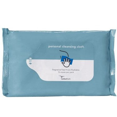 Cardinal Health Personal Cleansing Cloth, Unscented, Non-Flushable
